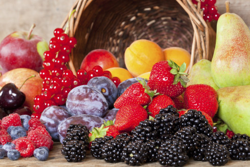 Many different European Fruits in Summer Season